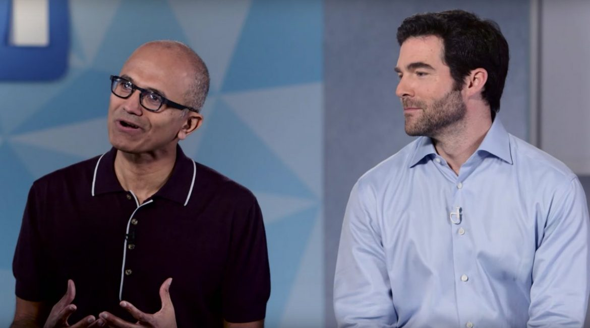 Satya Nadella and Jeff Weiner