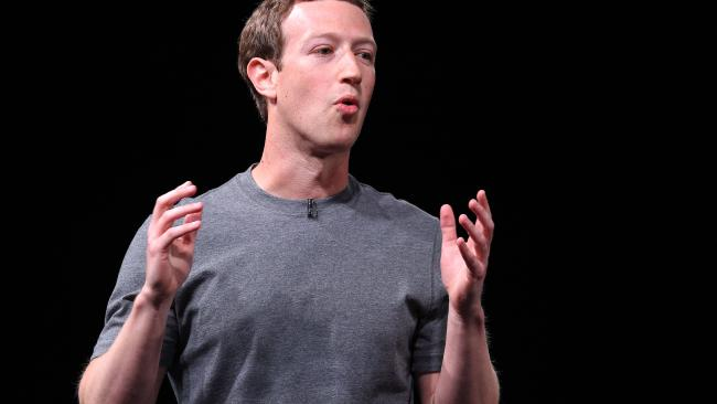 Facebook founder and company owner Mark Zuckerberg. Credit: AFP